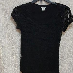 Little Black Sweater Feminine & Classy
